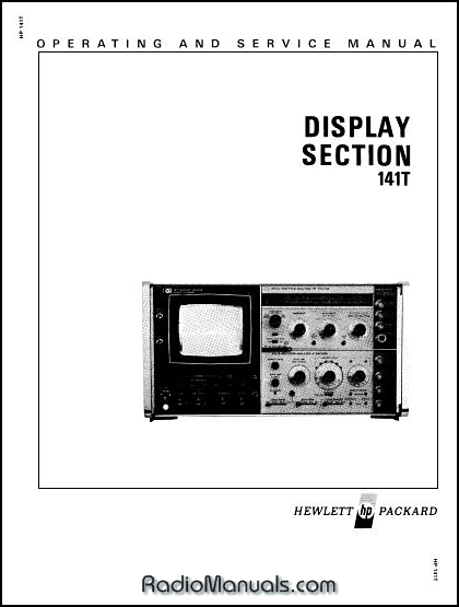 HP 141T Display Section Service & Operation Manual
