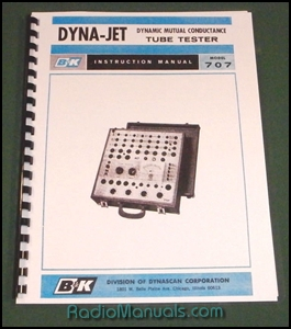 B&K Dyna-Jet 707 Tube Tester Instruction Manual & Tube Charts