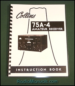 "Collins 75A-4 Instruction Manual: 11"" X 23"" Foldout Schematic"