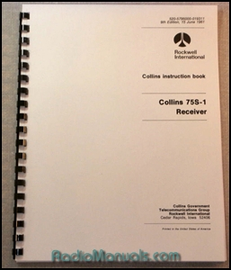 Collins 75S-1 Instruction Manual