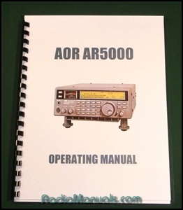 AOR AR5000 Operating Manual