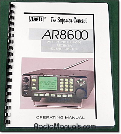 AOR AR8600 MK2 Operating Manual
