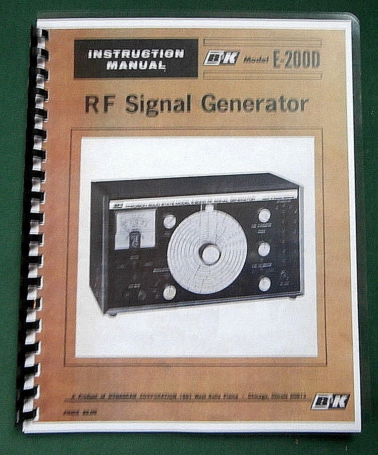 B&K E-200D Signal Generator Instruction Manual