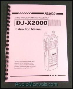 Alinco DJ-X2000 Instruction Manual
