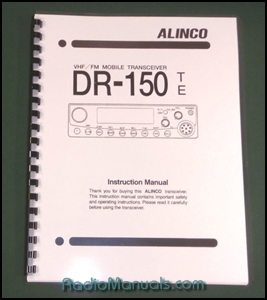 Alinco DR-150T/E Instruction Manual