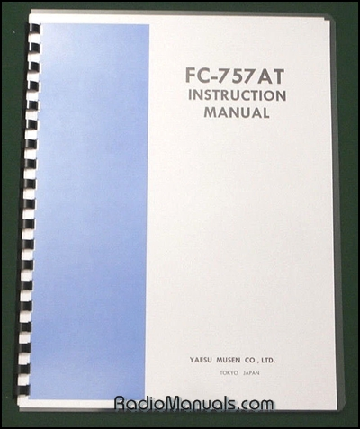 Yaesu FC-757AT Instruction Manual