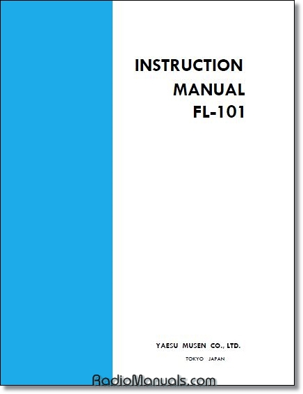 Yaesu FL-101 Instruction manual