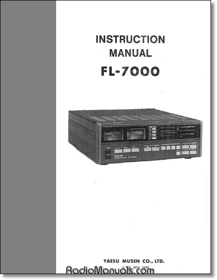 Yaesu FL-7000 Instruction Manual (3 button)
