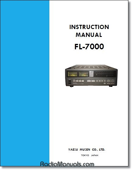 Yaesu FL-7000 Instruction Manual (4 button)