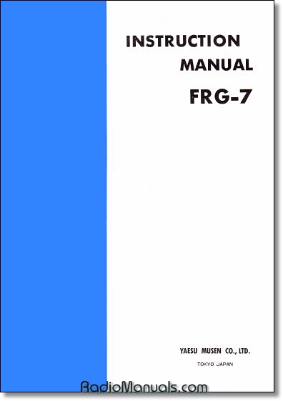 Yaesu FRG-7 Instruction Manual