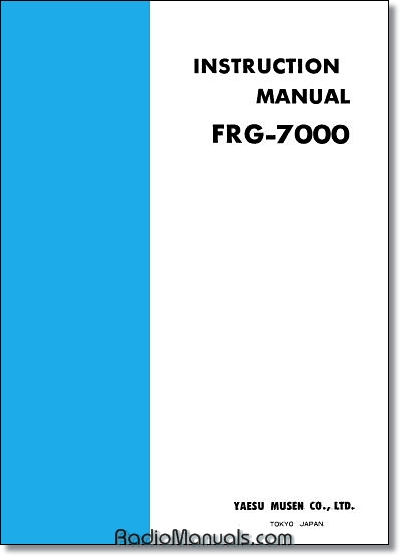 Yaesu FRG-7000 Instruction Manual