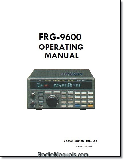 Yaesu FRG-9600 Instruction Manual