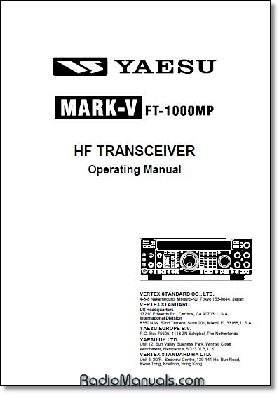 Yaesu FT-1000MP Mark V Instruction Manual