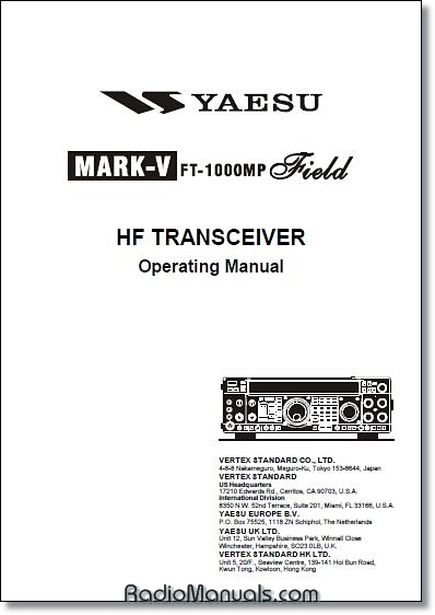 Yaesu FT-1000MP MK V Field Instruction Manual