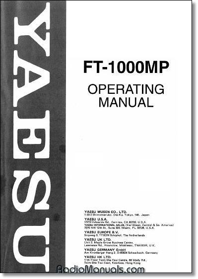 Yaesu FT-1000MP Instruction manual