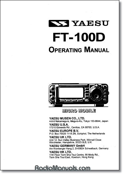 Yaesu FT-100D Instruction Manual