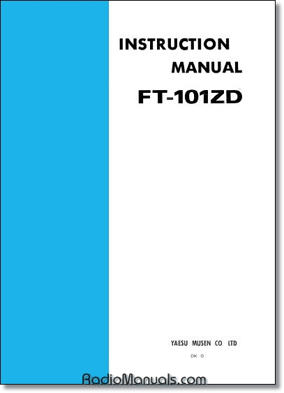 Yaesu FT-101ZD Instruction Manual