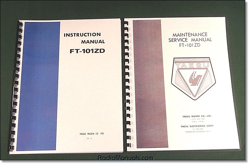 Yaesu FT-101ZD Instruction & Service Manuals