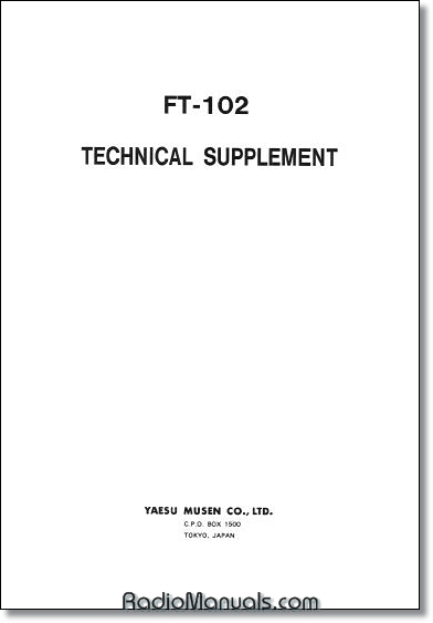 Yaesu FT-102 Technical Manual