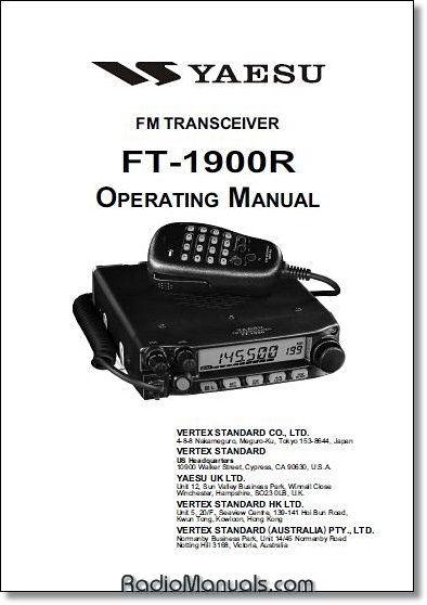 Yaesu FT-1900R Instruction Manual