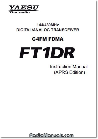FT1DR APRS Instruction Manual