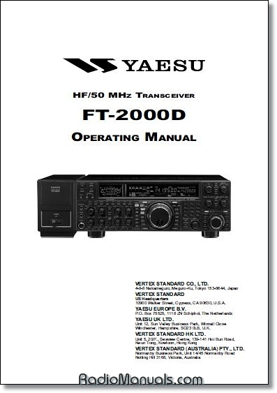 Yaesu FT-2000D Instruction Manual