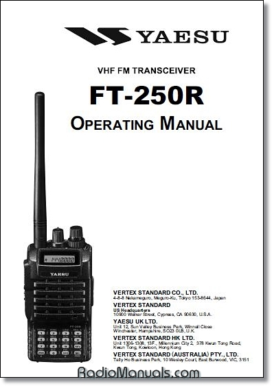 Yaesu FT-250R Operating Manual