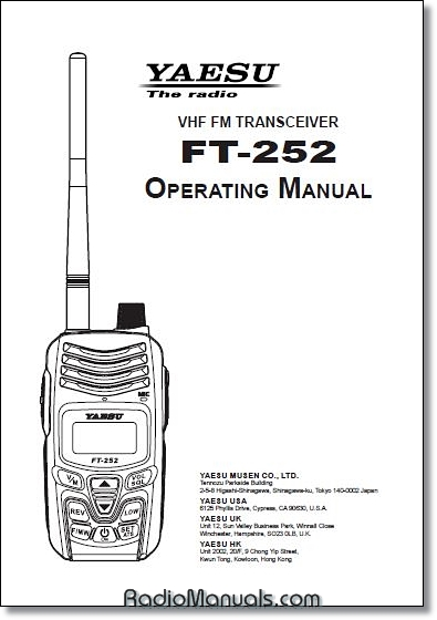 yaesu ft 252 operating manual rh radiomanuals com Yaesu FTM-400DR Yaesu Repair Service