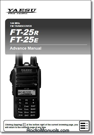 Yaesu FT-25R/E Advanced Manual