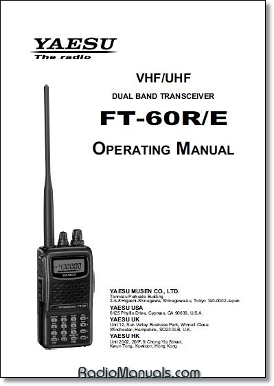 Yaesu FT-60R/E Instruction Manual