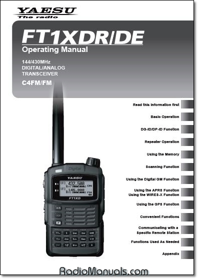 FT1XDR/DE Operating Manual