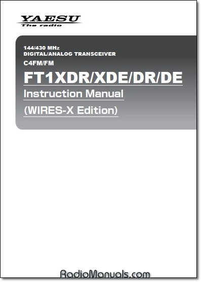 FT1XDR/XDE/DR/DE Wires Instruction Manual