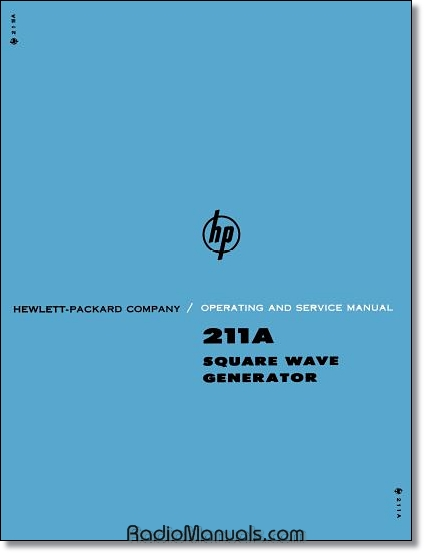 HP 2011A Operating & Service Manual