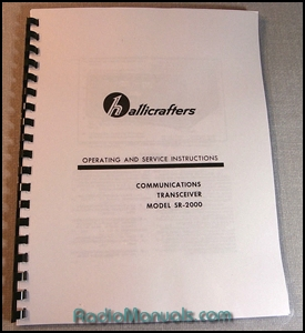 Hallicrafters SR-2000 Operating Manual