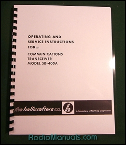 "Hallicrafters SR-400A Instruction Manual: 11"" X 24"" Schematic"