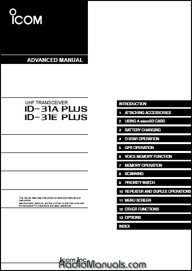 ID-31A Plus Advanced Instruction Manual