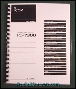 Icom IC-7300 Full Instruction Manual