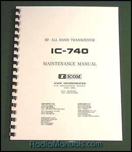 Icom IC-740 Service Manual with 12