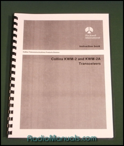 Collins KWM-2/KWM-2A Instruction manual with foldout schematic