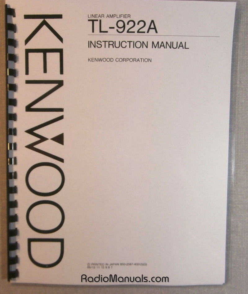 Kenwood TL-922A Instruction Manual