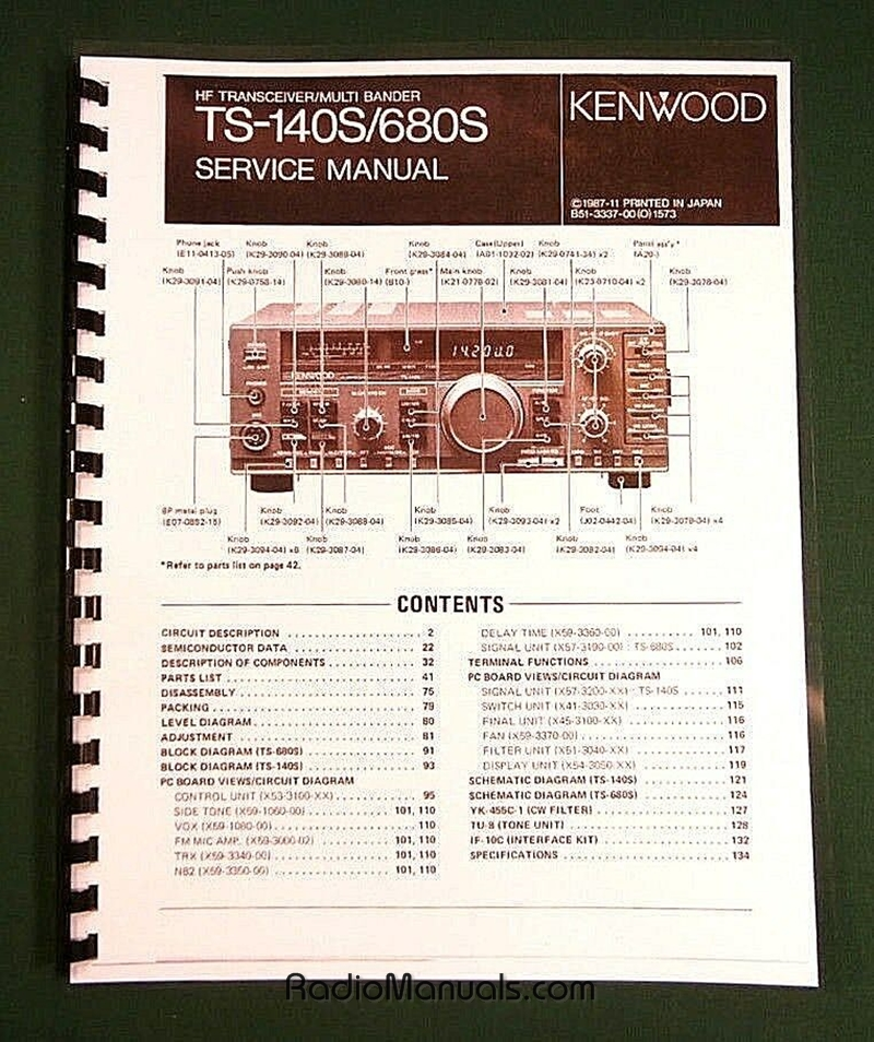 Kenwood TS-140S Service Manual
