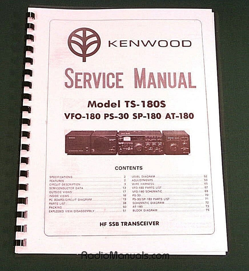Kenwood TS-180S Service Manual