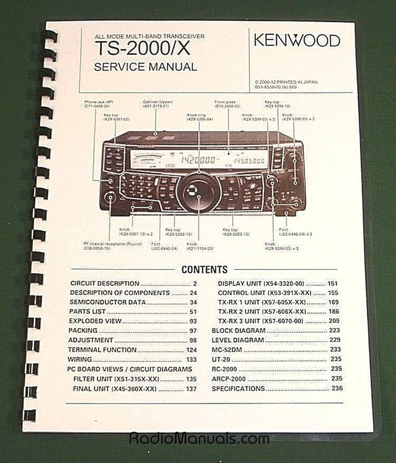 Kenwood TS-2000 Service Manual