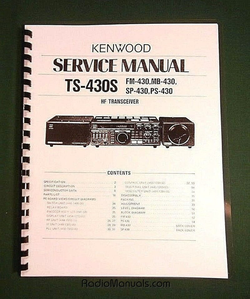 Kenwood TS-430S Service Manual