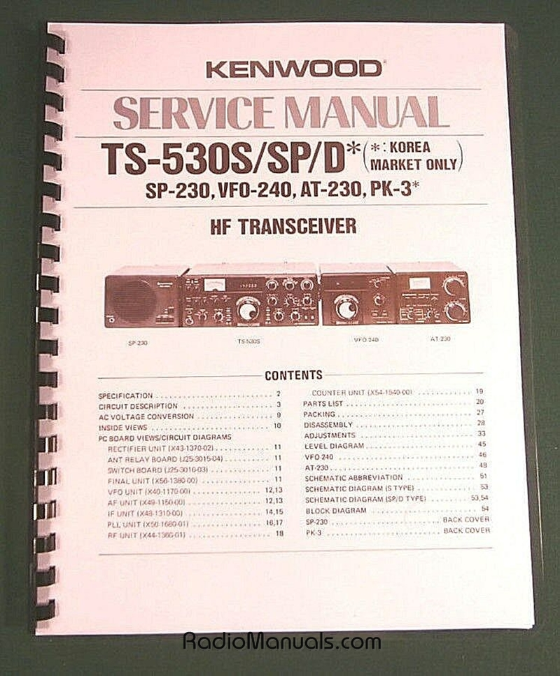 Kenwood TS-530S/SP Service Manual