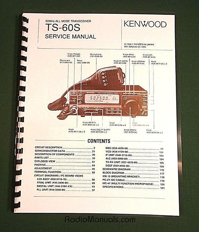 Kenwood TS-60S Service Manual