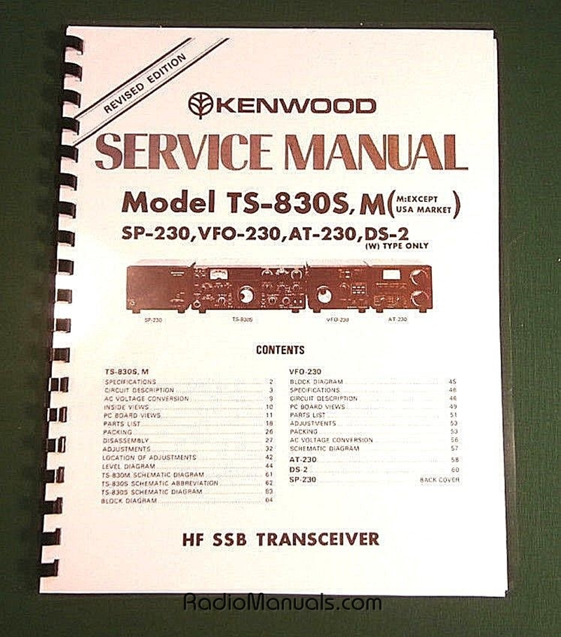 Kenwood TS-830S Service Manual