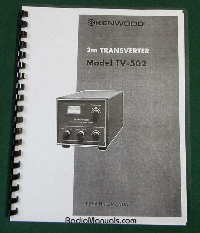Kenwood TV-502 2m Transverter Instruction Manual