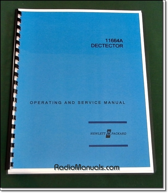 HP 11664A Operating & Service Manual