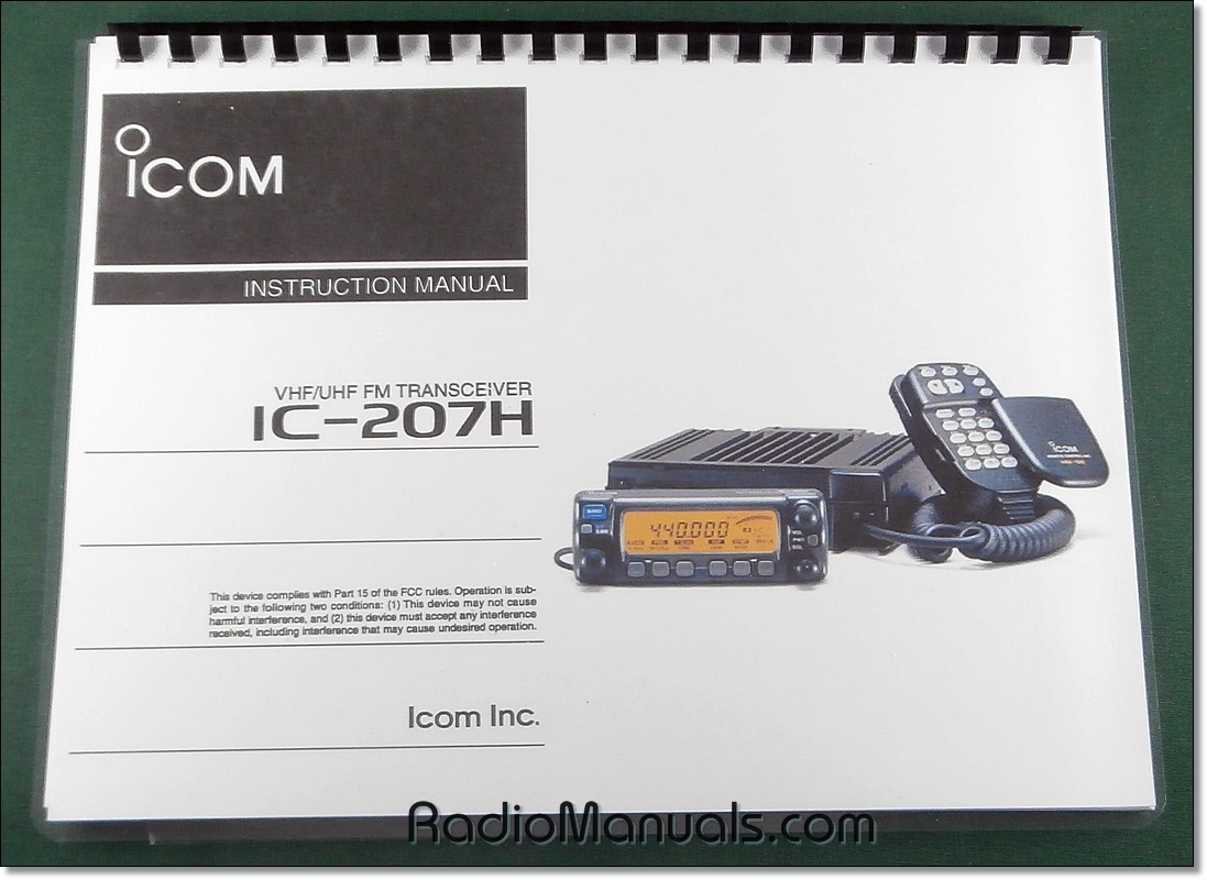 Icom IC-207H Instruction Manual